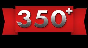 Over 350 SKUS